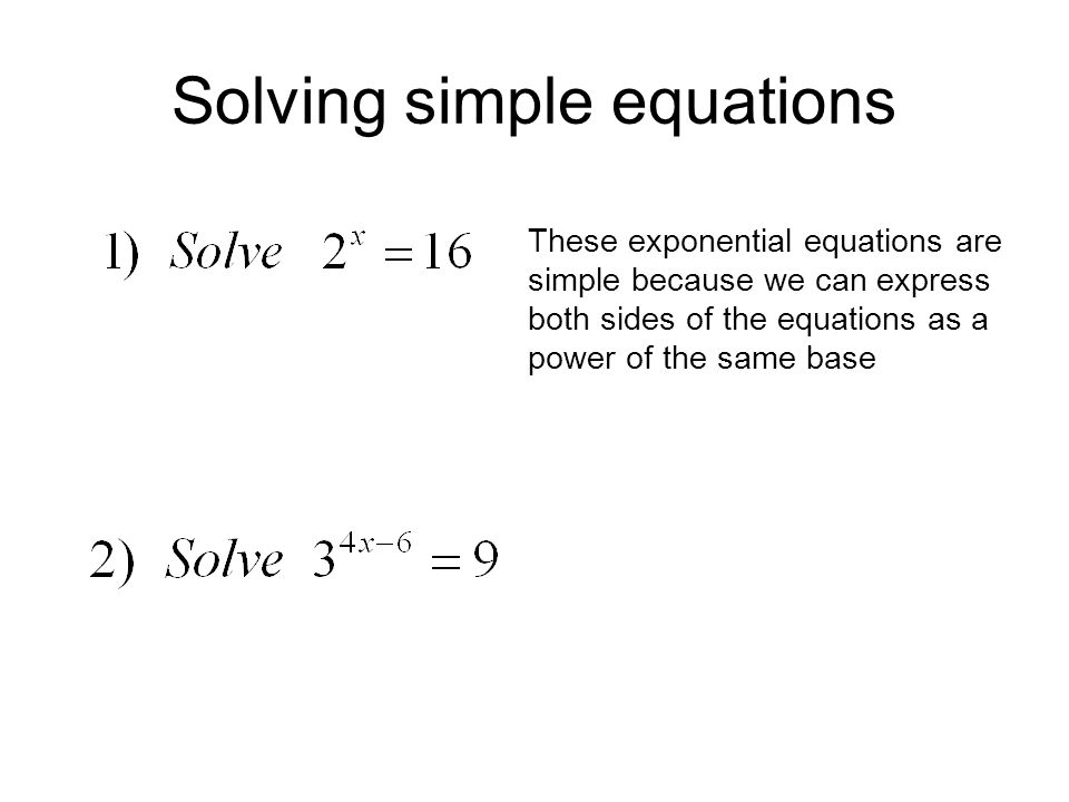 Easy Equation and Logarithmic Equati...