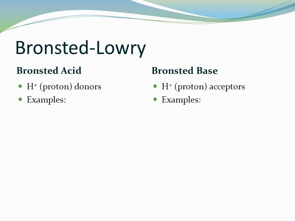 acid base catalysis bronsted relationship