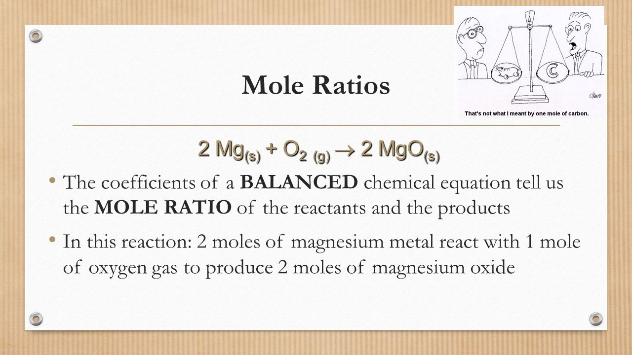 how to get the mole ratio