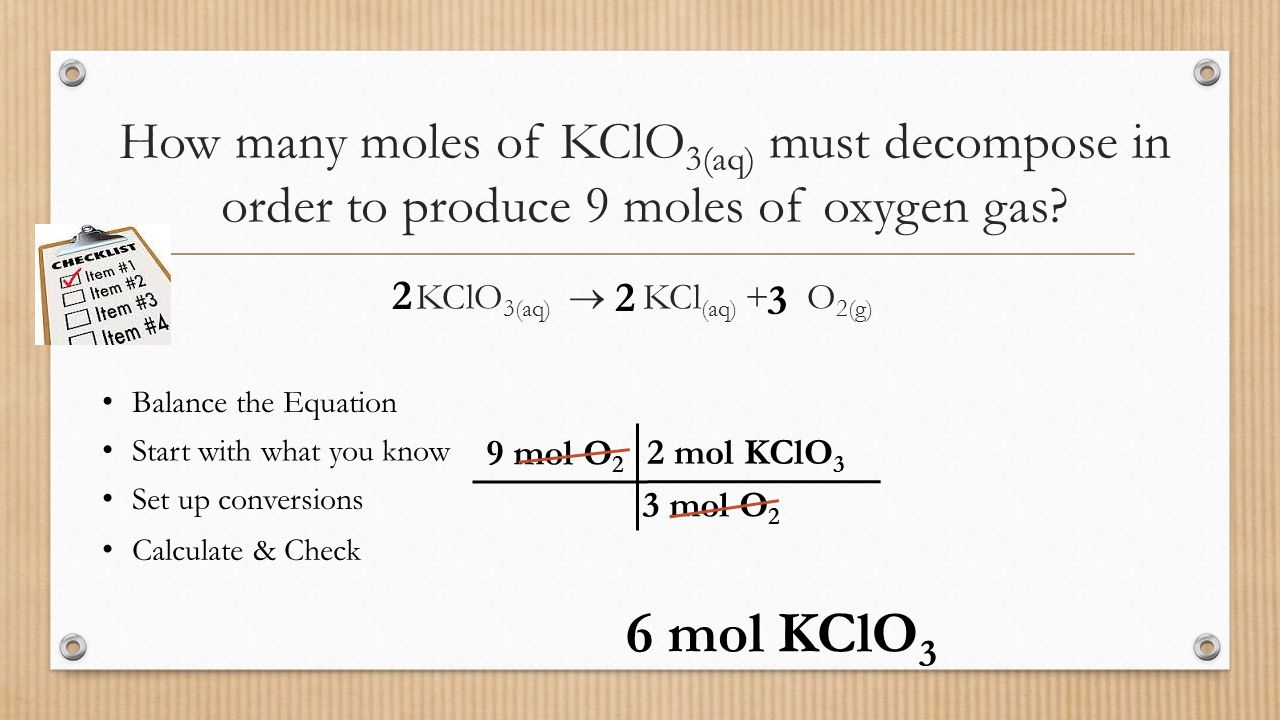 Stoichiometry mrs page chem ppt video online download kclo3aq kclaq o2g gamestrikefo Images