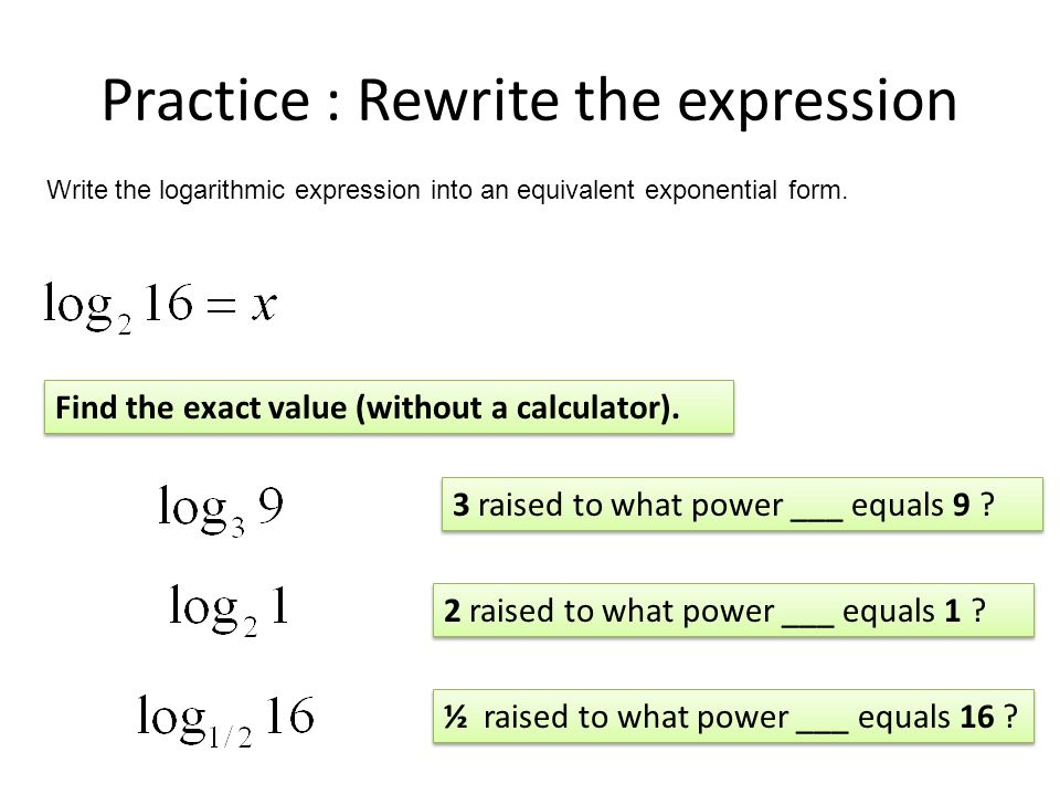 Solving Exponential Equations… - ppt video online download