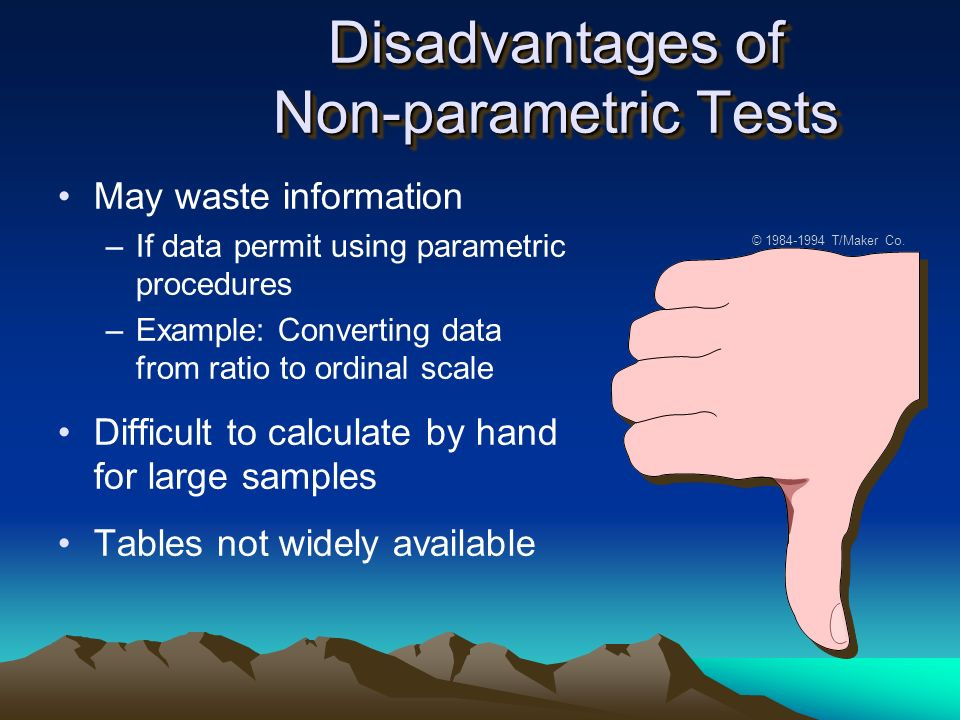 advantages and disadvantages of parametric tests pdf