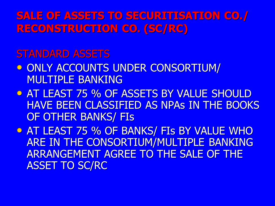 asset reconstruction company Cfmarc is a financial asset reconstruction and securitisation company in india, registered with reserve bank of india (rbi) we are engaged in the business of acquiring non performing financial assets from banks / financial instituations.