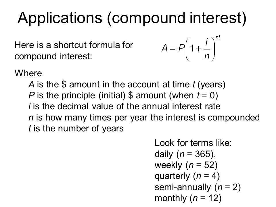 how to make compounded weekly interest