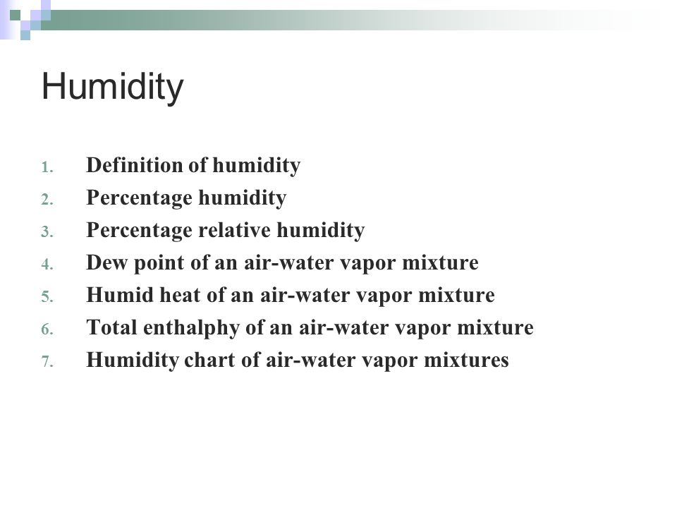 how to find percent humidity