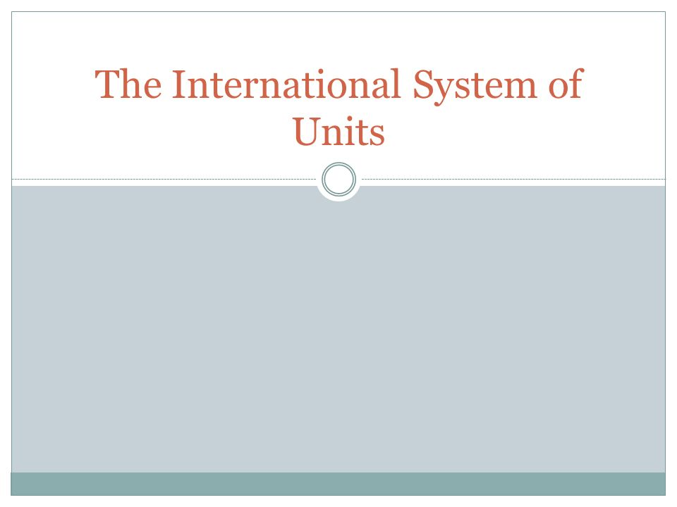 the international system of units Essentials of the si introduction si units and prefixes units outside the si rules and style conventions background definitions of the si base units and their historical context international aspects of the si unit conversions.
