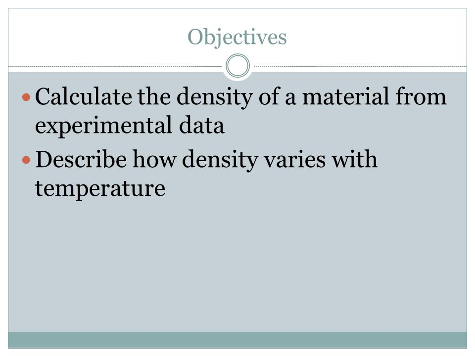what is the relationship between mass volume and density of a material