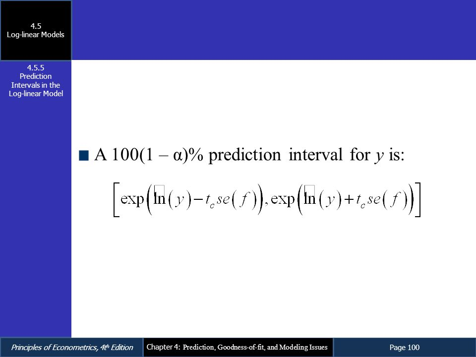 Prediction Intervals in the Log-linear Model
