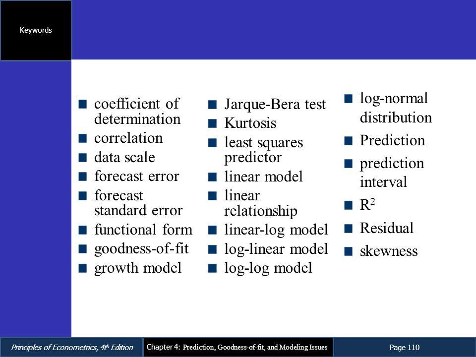 coefficient of determination correlation data scale forecast error