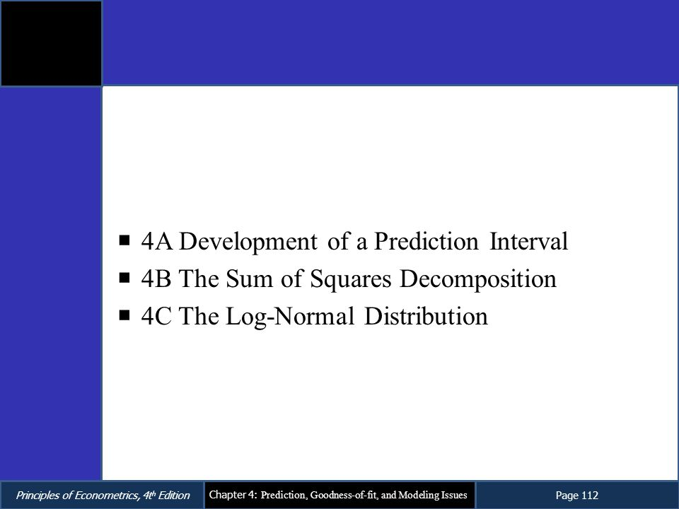 4A Development of a Prediction Interval