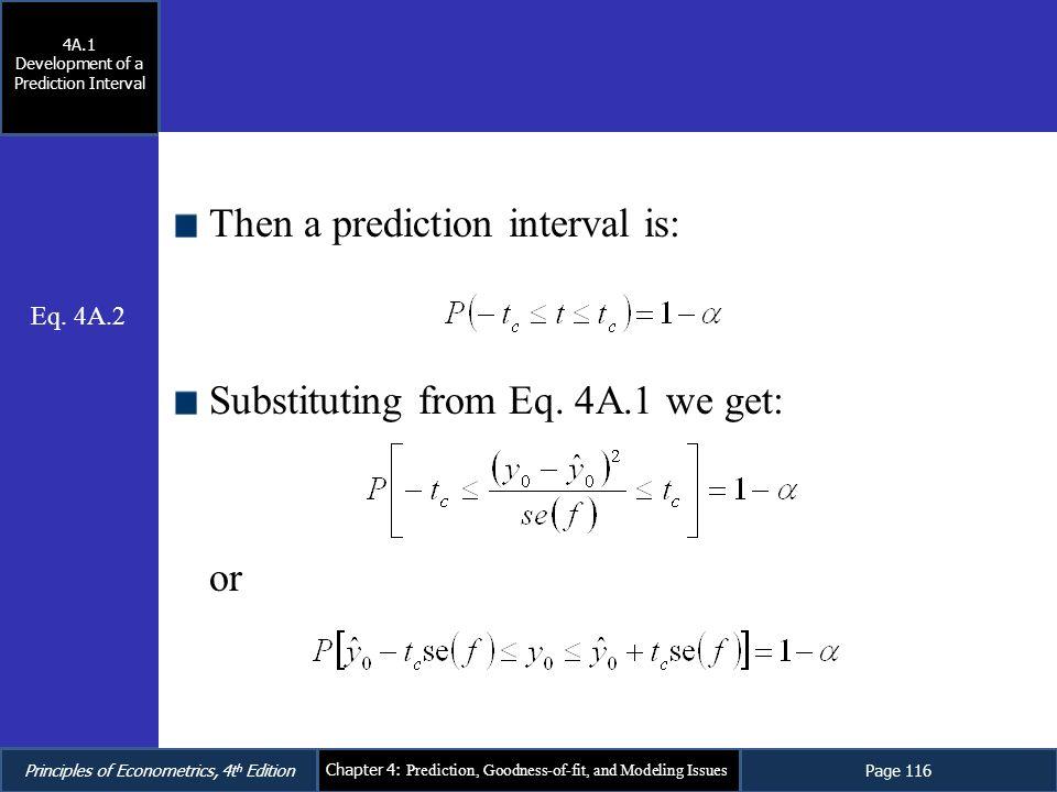 Development of a Prediction Interval