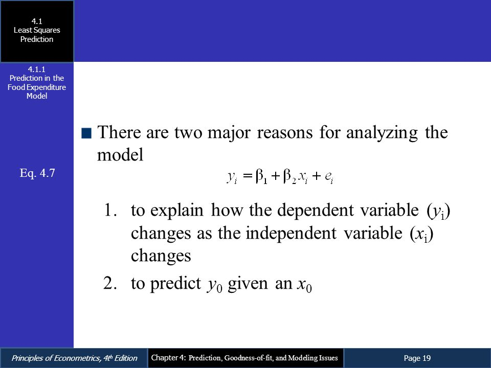 There are two major reasons for analyzing the model