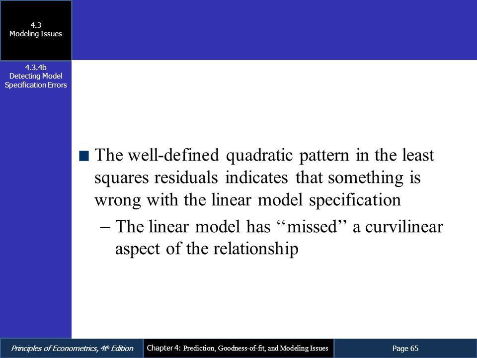 Detecting Model Specification Errors