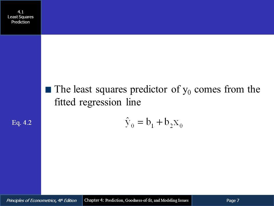 Least Squares Prediction
