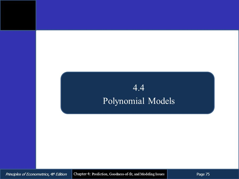 4.4 Polynomial Models