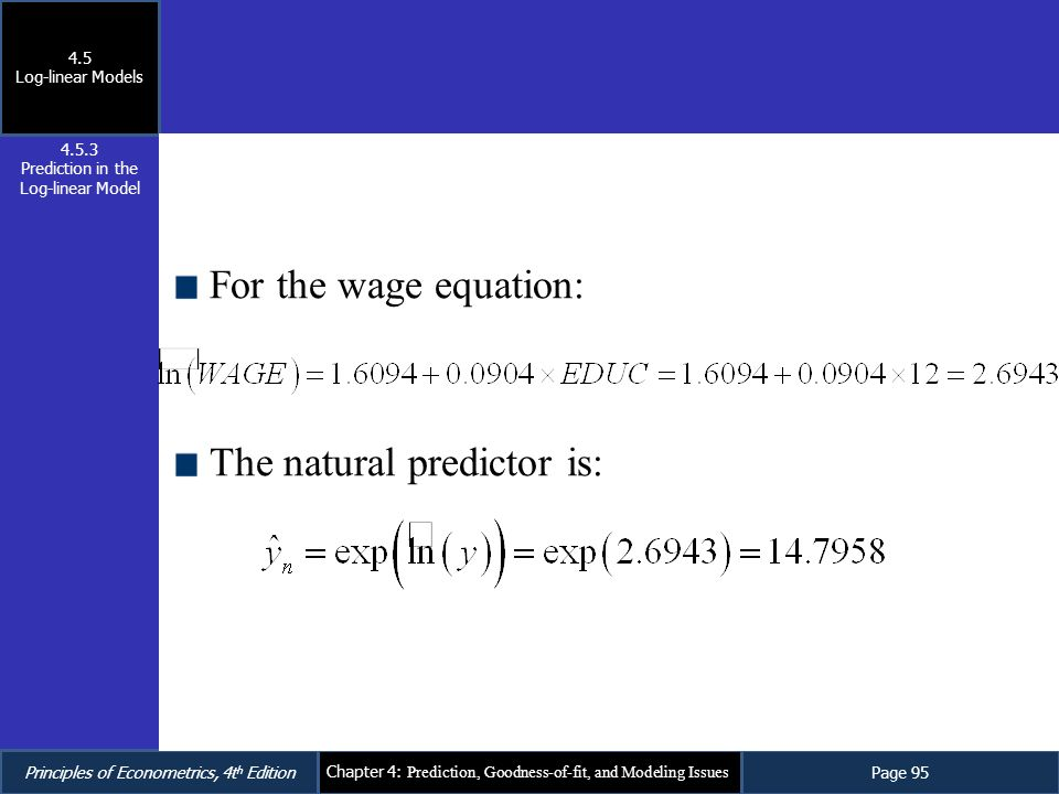 Prediction in the Log-linear Model