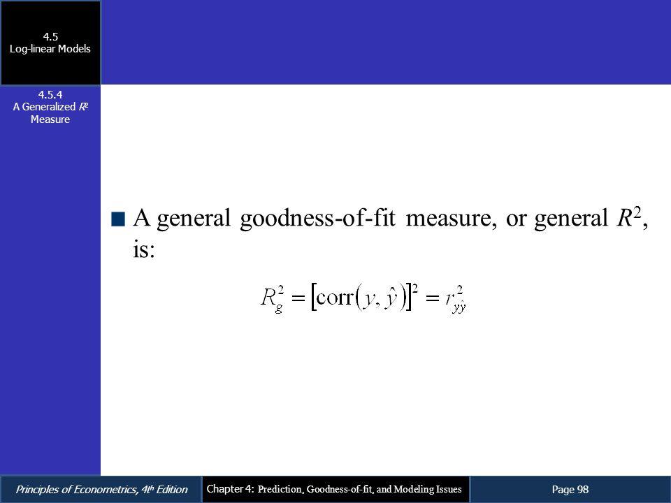 A Generalized R2 Measure