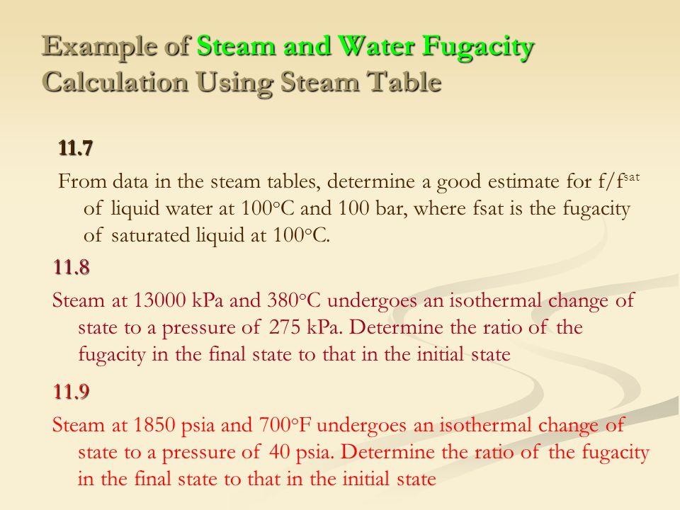 Dicky dermawan itk 234 termodinamika teknik kimia ii nonideal example of steam and water fugacity calculation using steam table watchthetrailerfo