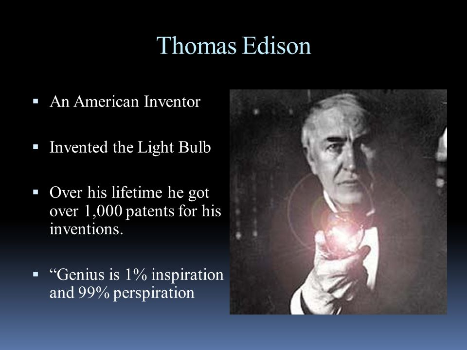 a biography of thomas alva edison a great american inventor Thomas alva edison was an american inventor and businessman he developed many devices that greatly influenced life around the world, including the phonograph, the motion picture camera, and a long-lasting, practical electric light bulb.