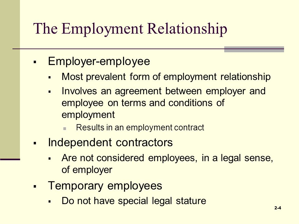 What is Employee-Employer Relationship?