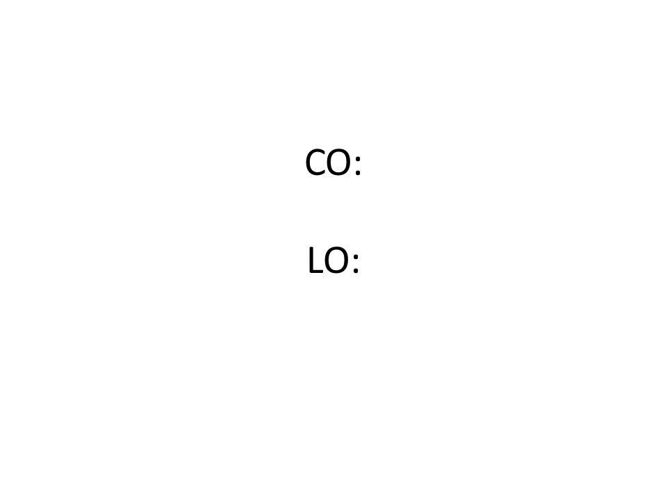 CO: LO: