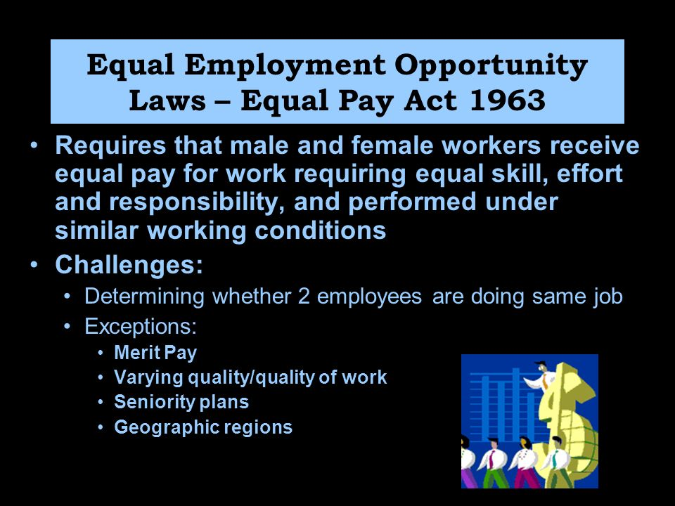 equal pay for equal work Women may not reach pay parity until 2059 and for women of color it's even worse: hispanic women may wait until 2233 black women may wait until 2124 for equal pay closing the gender wage gap would cut poverty among working women and their families by more than half and add $513 billion to the national economy.