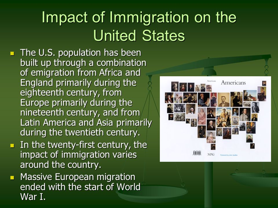 positive impact of immigration in united states us Cbo report confirms a positive impact of immigration reform on federal budget   a fair and inclusive us immigration policy would have a net positive impact on  the  the cbo confirmed that the noncitizen population in the united states is.