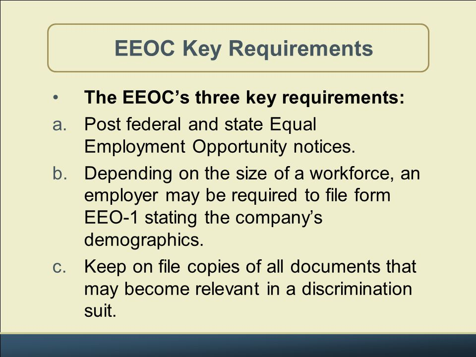 Equal Employment Opportunity Concepts  Ppt Download