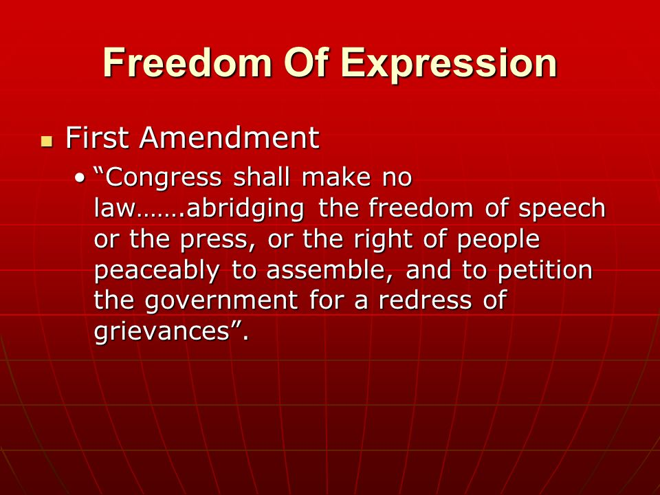 an analysis of the freedom of expression