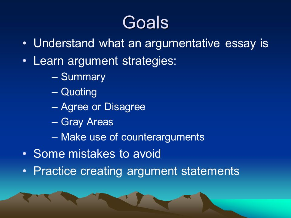 argument writing topics