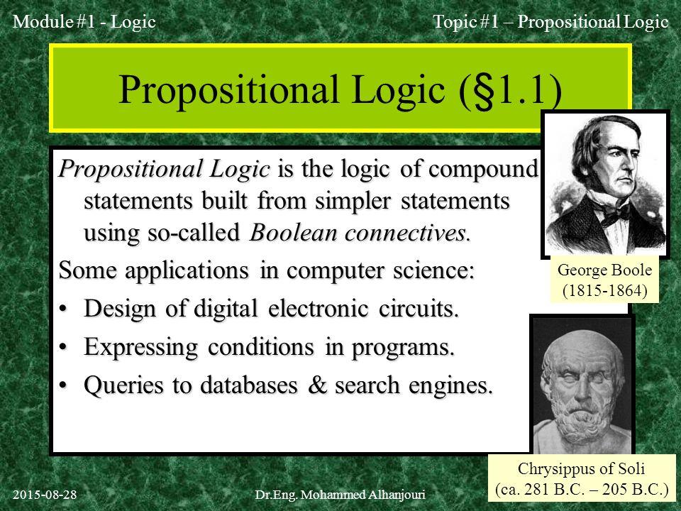 Propositional Logic (§1.1)