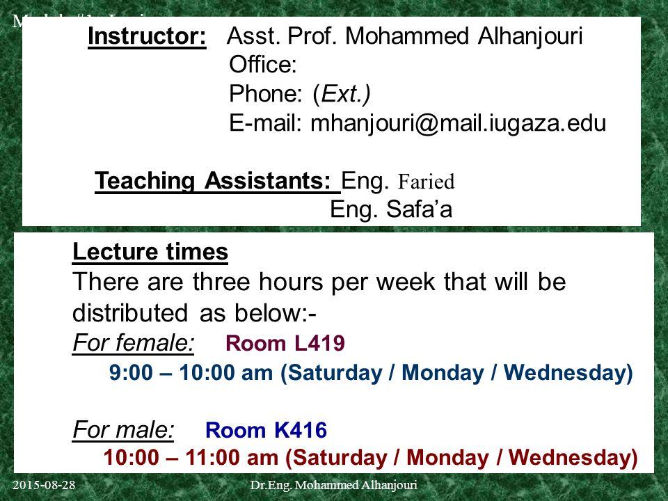 Dr.Eng. Mohammed Alhanjouri