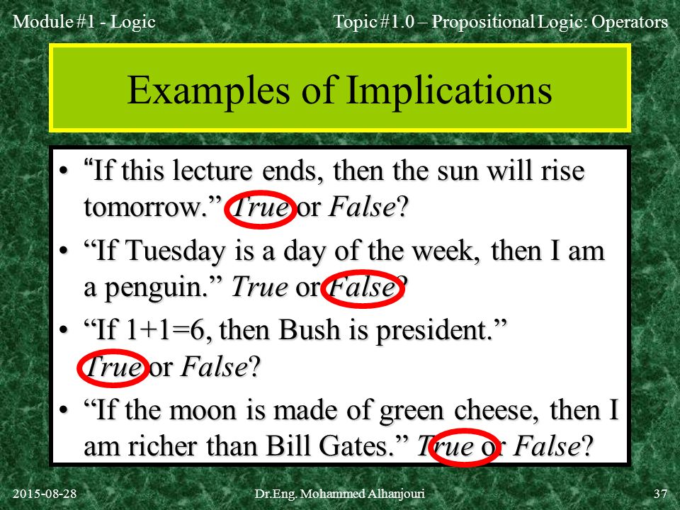 Examples of Implications
