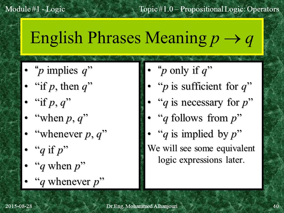 English Phrases Meaning p  q