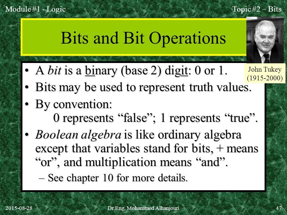Bits and Bit Operations
