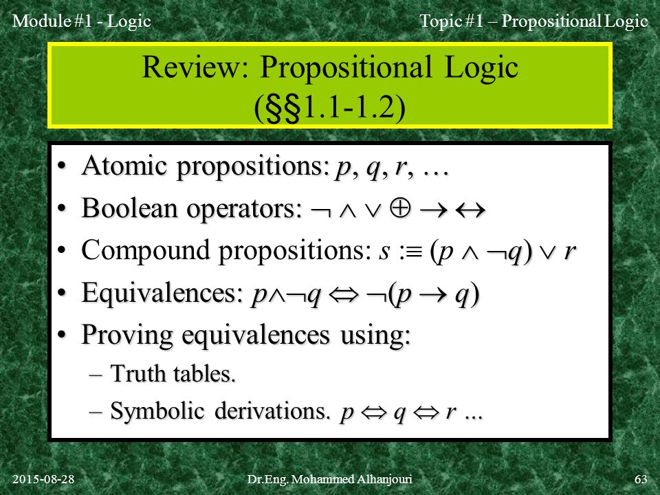 propositional logic truth tables pdf