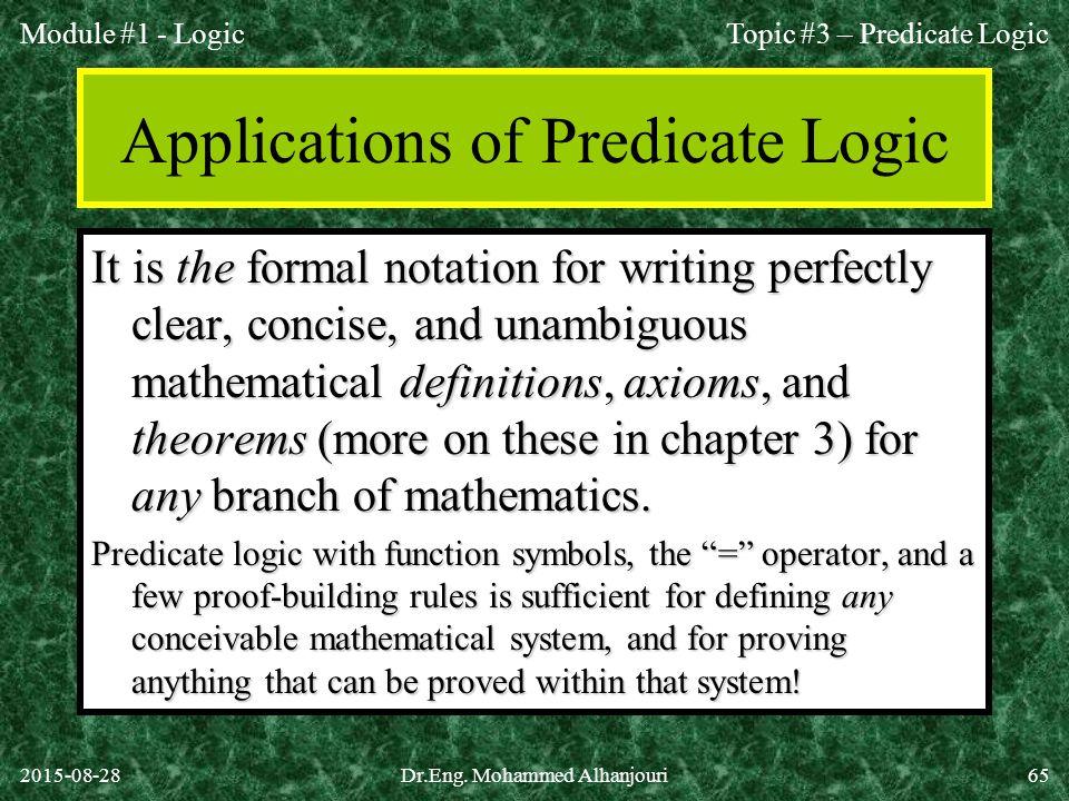 Applications of Predicate Logic