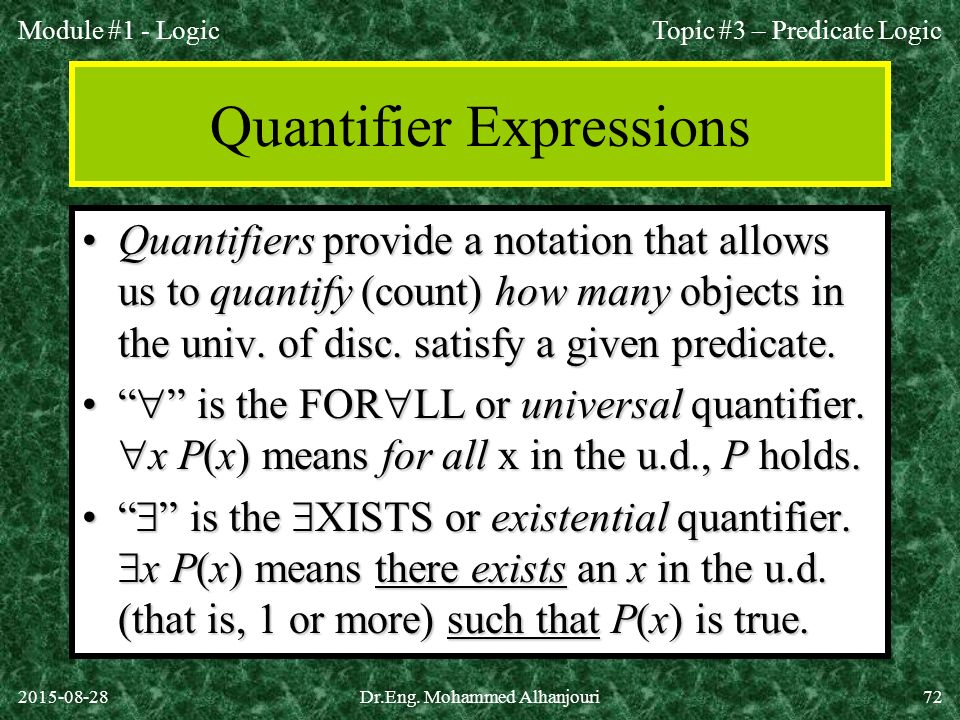 Quantifier Expressions