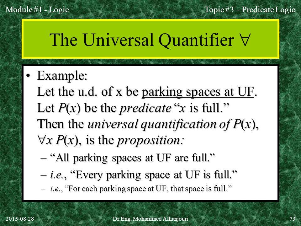 The Universal Quantifier 