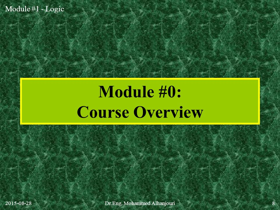 Module #0: Course Overview