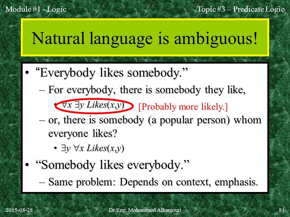 Natural language is ambiguous!
