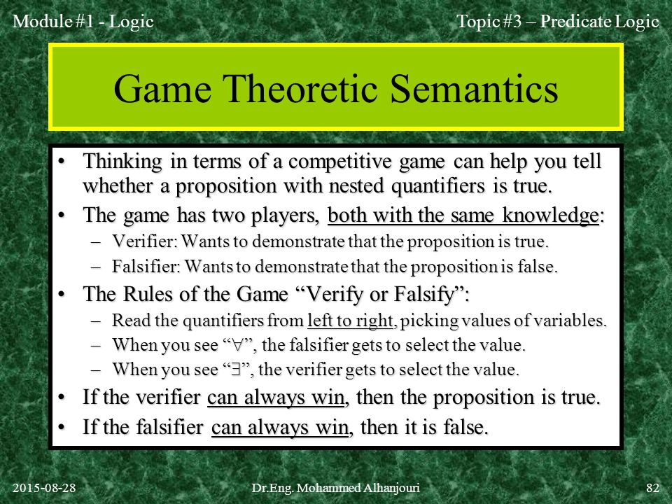 Game Theoretic Semantics
