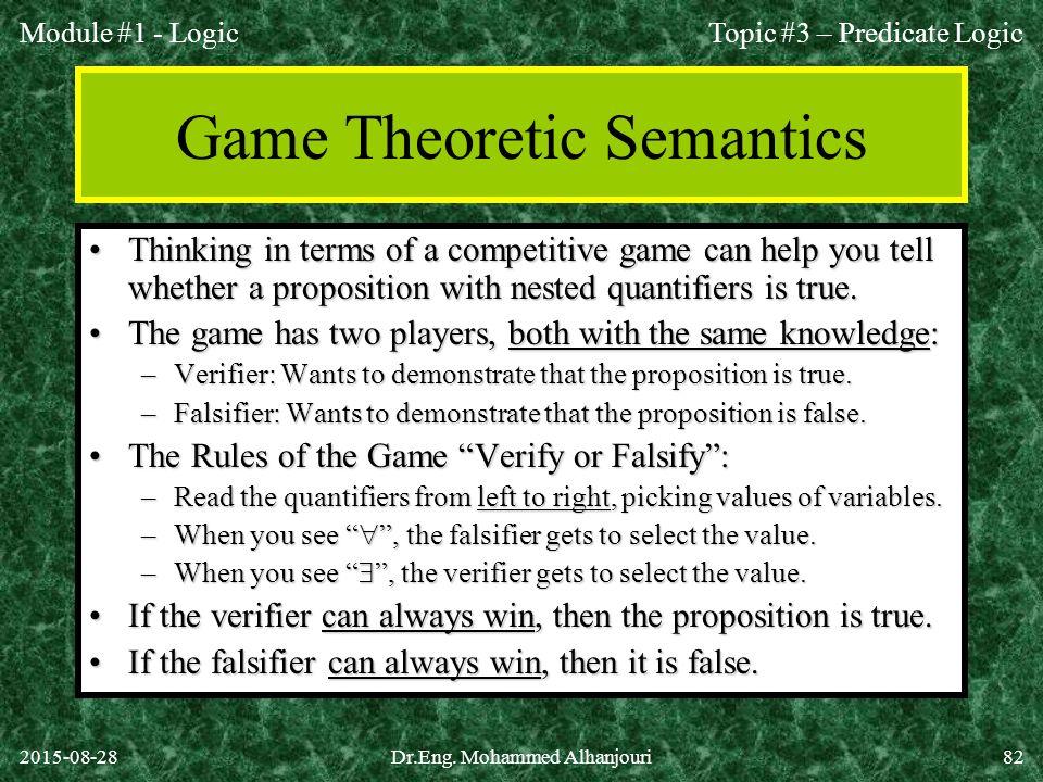 Game Theoretic Semantics