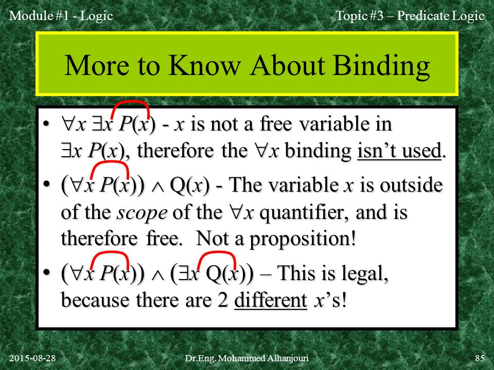 More to Know About Binding