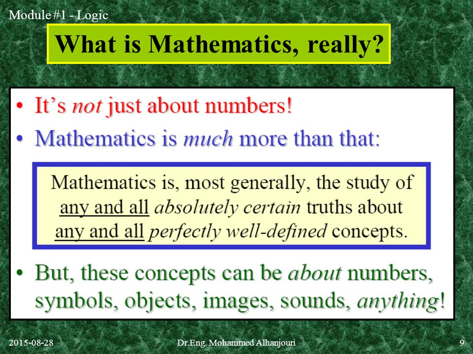 What is Mathematics, really