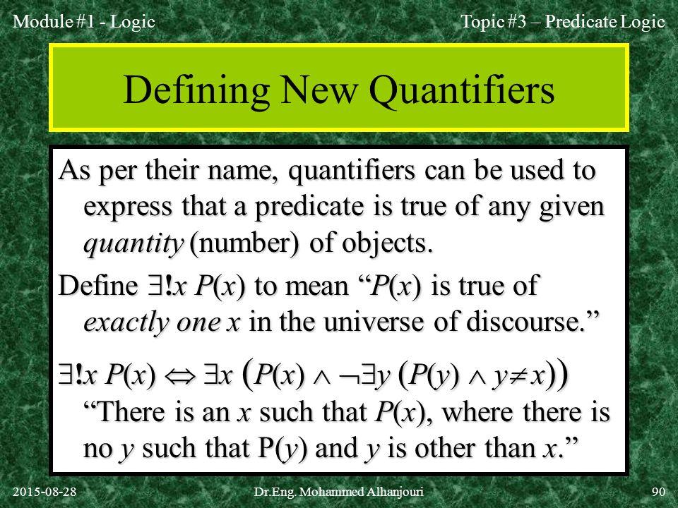 Defining New Quantifiers