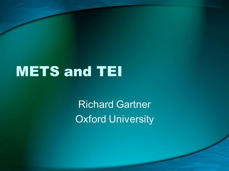 Richard Gartner Oxford University