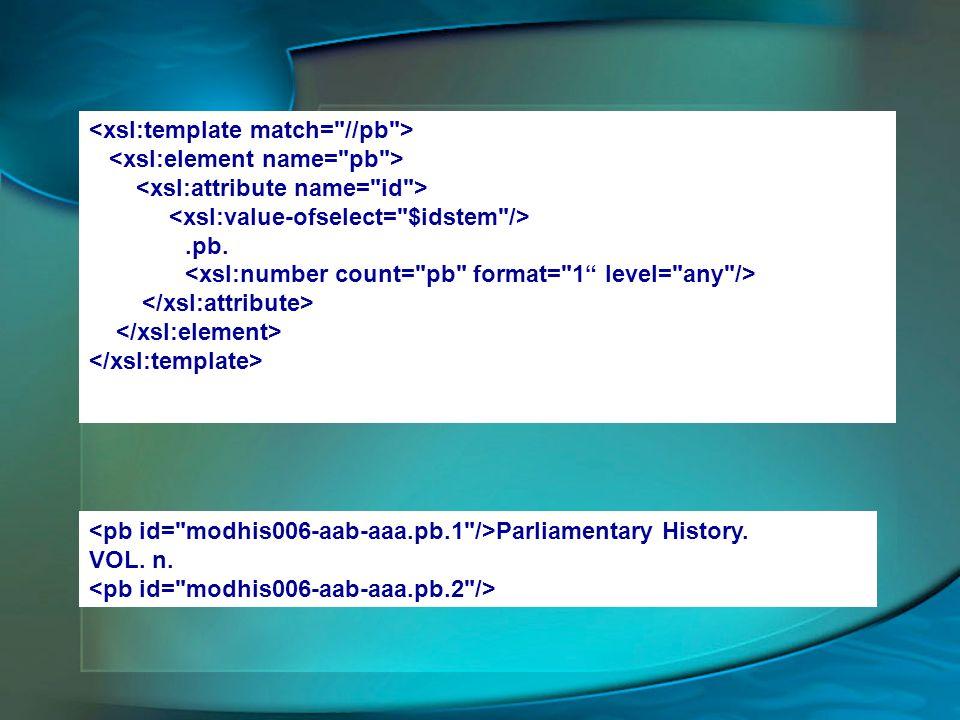<xsl:template match= //pb >