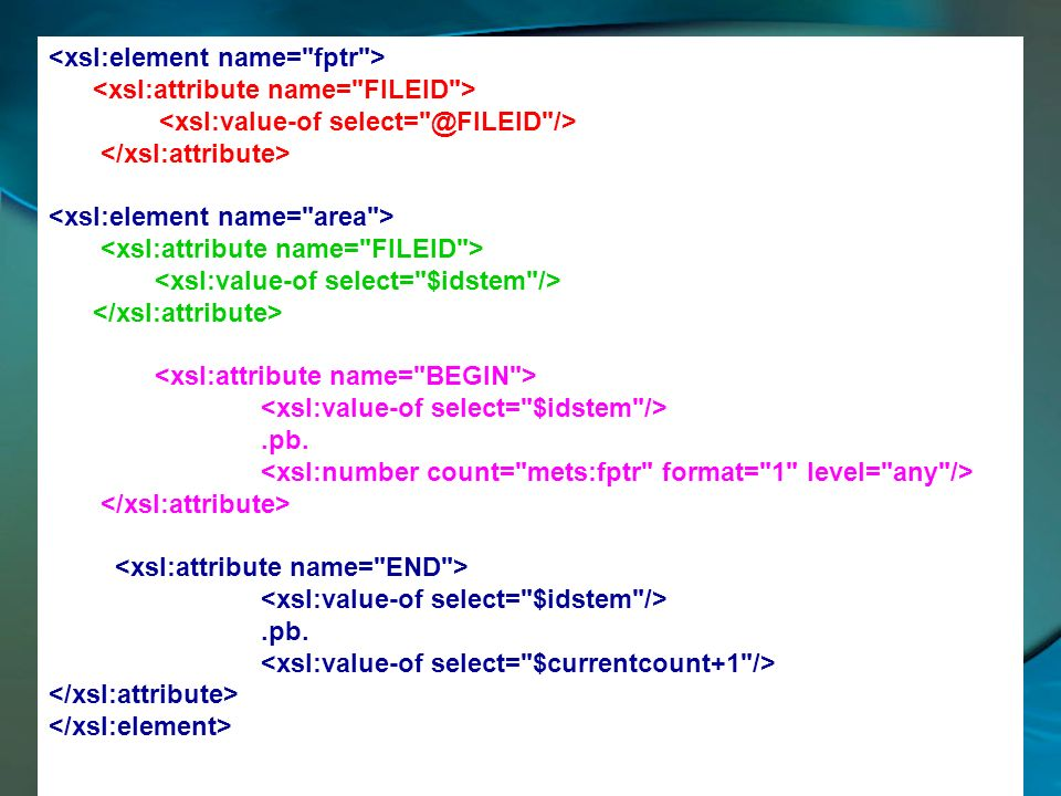 <xsl:element name= fptr >