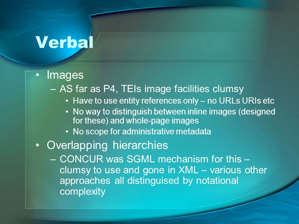 Verbal Images Overlapping hierarchies